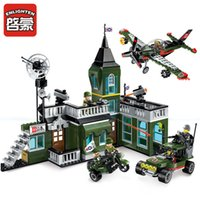 Wholesale Soldier Sets - City Military Series Command Bomber Soldiers Building Blocks Sets Bricks Model Assembled Toys Children Gift Toys