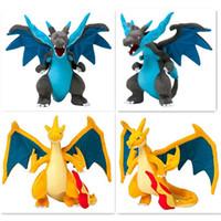 "Wholesale Mega Yellow - New 25cm CENTER Plush Doll Mega Charizard X Y pikachu plush toys Good Quality 10"" Stuffed Animals 2 Color Available JC279"