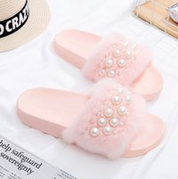 Scuffs outdoor cones - Fashion Style Pearl slippers female summer fashion thick base wool slippers PVC anti skidding Platform Flip flops Free Gift