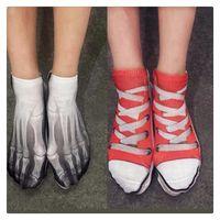 Wholesale Cool 3d Socks - 2016 Hot Novelty Fashion Funny Cool Cotton Socks 3D Multi Pattern Printed Socks Skeleton Bone Socks Men Women Underwear Free Shipping