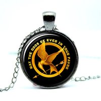 Wholesale Hunger Fire - 10pcs lot Hunger Games Catch Fire Necklace Pendant, Jewelry Glass Photo Cabochon Necklace 2998