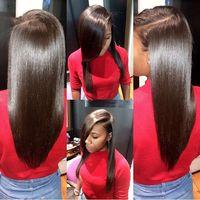 insan saçı örgü filipino toptan satış-Filipinli Saç Düz Bakire Insan Saçı Örgüleri 4 adet / grup 100% Işlenmemiş Brezilyalı Perulu Malezya Indain Filipinli Düz Saç Atkı