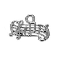 Wholesale Wholesaler For Music Instruments - Silver Plated Musical Instrument Guitar & Music Score Charms Zinc Alloy Charms for DIY Necklaces Bracelets Making