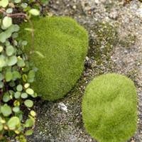 ingrosso piante di terrario-Terrari Miniature da giardino Pianta fibra Artigianato Decor Artificiale Erba da giardino Muschio Stile pastorale