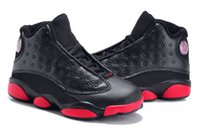Wholesale Cheap Boy Toddler Shoes - 2017 Cheap Kids Air Retro 13 Shoes Children Basketball Shoes Boy Girl Retro 13s Black Sports Shoes Toddlers Athletic Shoes Birthday Gift