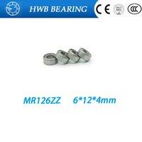 Wholesale Ball Bearing Abec - Wholesale- MR126ZZ MR126 ZZ MR126-2Z MR126Z ABEC-5 6X12X4 mm Free Shipping 10pcs Deep groove Ball Bearing MR126   L1260 ZZ