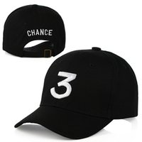 Популярный певец Chance The Rapper 3 Chance Cap Black Letter Embroidery 3D Бейсбольная кепка Hip Hop Streetwear Snapback Hats