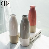 Wholesale Ceramics Home Decoration - Genuine Dream house DH VS156323 ceramic flower vase modern porcelain flower bottle for home decoration garden decoration