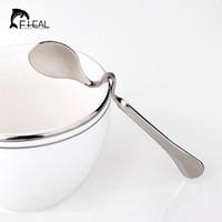 Wholesale Stainless Steel Coffee Spoons - Wholesale- Creative Stainless Steel Seasoning Ladle Spoons Twisting Hanging Cup Teaspoon Coffee Spoon for Drinking Tableware