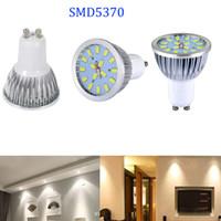 epistar boncuklar toptan satış-Süper Parlak GU10 6 W 85-265 V SMD5730 Led Spot Ampul Lamba 16 Boncuk Sıcak