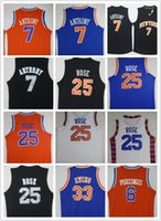 Wholesale Character Patrick - Men's 6 Kristaps porzingis 7 Carmelo Anthony Sports shirt 25 Derrick Rose 33 Patrick Ewing Casual Shirts green black white Shirts for mens