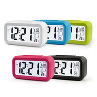 Wholesale Modern Desk Clocks - New Modern Large-Display Digital Alarm Clock LED with Calendar Electronic Desk Table Clocks