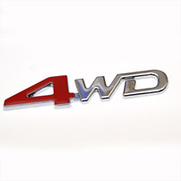 Wholesale 4wd Stickers - 3D ABS Car Chrome Sticker 4X4 SUV Funny DIY 4WD Emblem Badge Sticker 4WD Decal Accessories Sport Stickers For Toyota NISSAN Ford VW