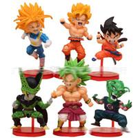 Wholesale Dragon Ball Z Movable Toys - 2-3inch Dragon Ball DBZ Anime Goku Vegeta Piccolo Gohan super saiyan Joint Movable dragon ball z action figures Toy Free shipping E1764