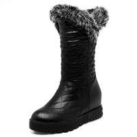 ingrosso le scarpe comode delle signore-scarpe delle signore di colore solido nuovi arrivano donne moda stivali 2017 di vendita calda semplici stivali da neve confortevoli eleganti stivaletti