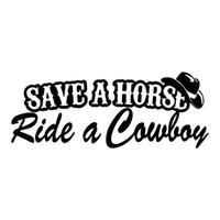 lastwagen heckscheibenabziehbilder großhandel-Speichern Sie ein Pferd Fahrt ein Cowboy Funny Country Vinyl Aufkleber Auto Styling Aufkleber Stoßstange Auto LKW Fenster Grafiken JDM