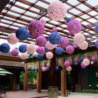 Wholesale Cheapest Wholesale Silk Flowers - CHEAPEST!! 30cm 12 Inch Wedding Silk Pomander Kissing Ball flower 107 Colors Rose Ball Artificial Flower Wedding Garden Market Decoration