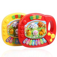 New Baby Bambini educativo musicale Piano Animal Farm Developmental Musica giocattolo colore casuale