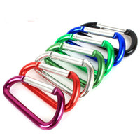 Wholesale D Type Car - Outdoor Multi Colors D Type Safety Buckle with lock Aluminium Alloy Climbing Button Carabiner Camping Hiking Hook 1000pcs Free DHL Fedex