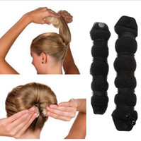 Dispositivo de estilo de cabelo esponjoso prático Donut Bun Maker Chrismas Magic Fácil Usando Hairdisk Anel antigo Shaper Hair Twist Curler 1200pcs OOA2158