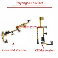 Wholesale ipad volume - 10pcs NEW for ipad 2 GSM or CDMA version Power Button Volume Button Flex cable Switch Repair Part