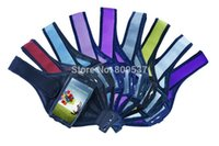 Wholesale Galaxy S4 Grid - Grid Style Grid Style Adjustable Sports Running Arm Band Protective Cover Case Pouch For Samsung Galaxy S3 S4 I9300 I9500 10PCS LOT