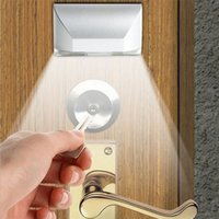infrared door lock achat en gros de-Auto PIR Door Keyhole Night Light LED Capteur de mouvement Light Infrarouge Ray Lock Sensor Light Auto Door Lock Lampe