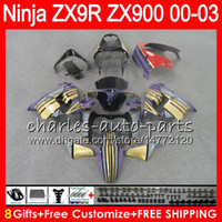 Wholesale zx9r gold for sale - Group buy 8Gifts Colors For KAWASAKI NINJA ZX R ZX R Gold black NO63 ZX R CC ZX900 ZX900C ZX9R Fairing kit