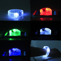 Wholesale Hand Strap Bracelet - Voice Control Flash Hand Ring Sound Activated Sensor LED Flashing Bracelet LED Glowing Bracelet Luminous Wrist Strap Featival LED Toys