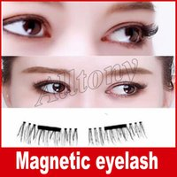 Wholesale Hand Made For Hair - False Eyelashes Magnetic Lashes eye makeupTouch Soft Wear With No gule magnet eyelashes Perfect for everyday 4PCS=1pair