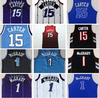 Wholesale 2017 New Men s Tracy McGrady Jersey Throwback North Carolina Vince Carter Basketball College Jersey Blue Purple Black White Jerseys