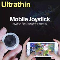 mini joystick pc al por mayor-Ultrathin Mobile Joystick Mini controlador de manija Mini controladores táctiles Mini Sucker Joysticks para Smartiphone gaming ipad PC tabletas Buena