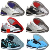 Wholesale Glitter Women S Shoes - New Retro 3 Basketball Shoes Sports Replicas Authentic Man Sneakers Buy Aires Fashion Men s Retro Shoes 3s III Shoes Sale