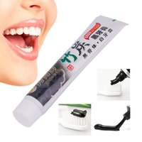 Wholesale Home Teeth Whitening - New 100G Teeth Whitening Oral Hygiene Bamboo Charcoal Toothpaste Universal Home Black Toothpaste Teeth Oral Care Accessory
