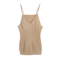 Wholesale Shaping Vest Women - Wholesale- New Arrival Weight Loss fat Burning body shape Open-Bust solid Camisole Slim fit Vest Tops tanks For Women summer S3