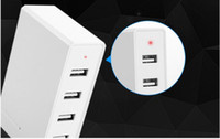 Wholesale Universal Charger For Computer - Us   Europe more than 2017 new intelligent multi USB support mobile phone charger creative tablet computer drag four charging socket