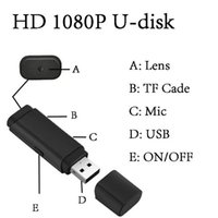 Spy U caméras disque HD 1080P USB Disque Mini DVR Caméscope USB Flash Drive Spy Hidden Camera Support 64G TF card