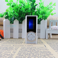 Wholesale Mini Clip Mp3 Media Player - Wholesale- MP3 Shiny Mini USB Clip LCD Screen MP3 Media Player Support 16GB Micro SD Card Portable High Quality Wholesale