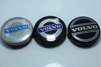 volvo rozeti toptan satış-3 renkler 20 adet volvo tekerlek merkezi caps için 64mm hub kapak araba amblem rozeti siyah / gri / MAVI C30 C70 S40