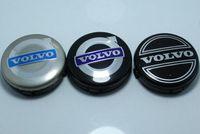 Wholesale Volvo Hub Cap - 3colors 20pcs 64mm for volvo wheel center caps hub cover car emblem badge black gray BLUE C30 C70 S40 V50 S60 V60 V70 S80 XC90