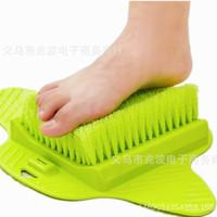 ingrosso doccia pulita piedi-Piedi Foot Bath Shower Brush Spa Rondella Cleaner Scrubber Massaggiatore Wear With Sucker può appendere le spazzole Vendita calda 13zb J R