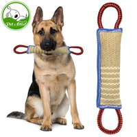 Wholesale Training Linen - Linen K9 Tug Toy With Two Handles For Adult Dogs And Puppies For Dogs Pet Training Play Throw