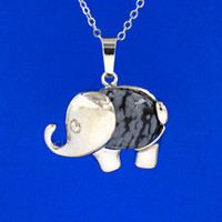 Wholesale Elephant Pendant Opal - musiling Jewelry Elephant Pendants Necklace Chain Natural Gem Stone Crystal Pendant Lapis Lazuli Opal etc Pendulum Charms Reiki Jewelry
