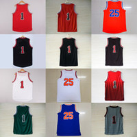 Wholesale Womens Ripped Shirts - 2017 Newest Mens Womens kids derrick rose Best Quanlity Basketball t-shirt Jerseys embroidery with player name logo Free Shipping wholesale!