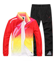 Wholesale High Waist Long Sleeve Cardigan - men sport suit adult early morning runs men tracksuits adult clothing size M-4XL 2 colors 2016 spring and autumn Wholesale sales 167.