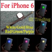 panel de brillo al por mayor-Para el iPhone 6 LED Logo DIY Luminescent LED Light Logo Kit de panel de modificación para iphone6 Volver carcasa Envío gratis
