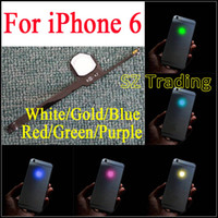 Diy Luminiscente Baratos-Para el iPhone 6 LED Logo DIY luminiscente LED Light Glowing Logo Mod Panel Kit para la carcasa posterior iphone6 ​​envío gratis