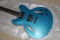 Wholesale Dave Grohl Guitars - 2017 Guitar Dave Grohl DG335 blue metalic electric guitar new arrival