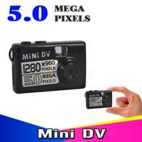 Wholesale 5mp hd smallest mini dv - Wholesale- For Bike  Motorbike Smallest new Mini DV DVR 5MP HD Digital Camera Video Audio Recorder Webcam Motion Detect Actived Camcorder
