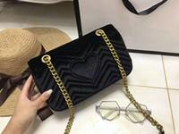 Wholesale Most Black White - freeship Autumn And Winter stlye Most popul luxury handbags women bags designer small messenger bags feminina velvet girl bag